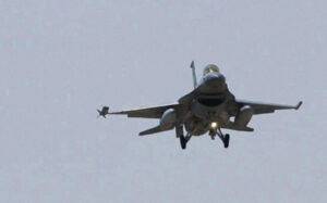 First upgraded F-16 completes successful test run
