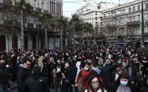 Art professionals protest in central Athens
