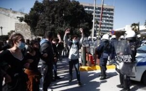 Dozens detained in clashes over campus security law