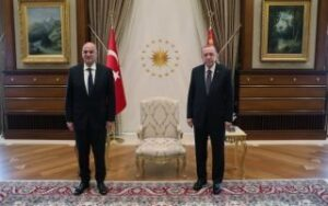 Greek FM with counterpart after meeting Turkish president