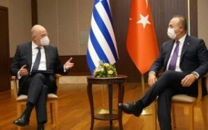 Greek, Turkish foreign ministers stand their ground