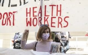 Health workers stage rally in Athens